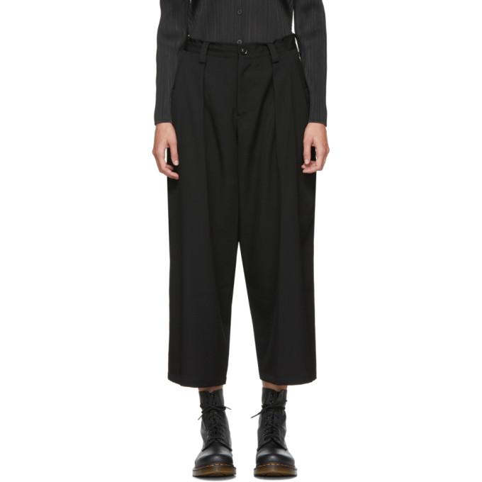 Image of Y's Black Big Pocket Trousers