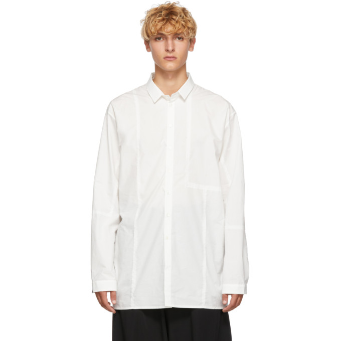 Isabel Benenato Chemise blanche Patches