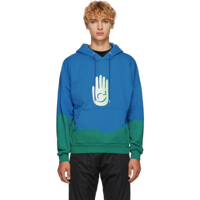 Image of Cottweiler Blue & Green Cave Hoodie