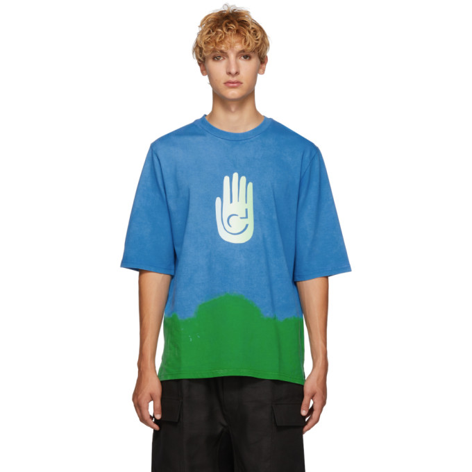 Image of Cottweiler Blue & Green Cave T-Shirt