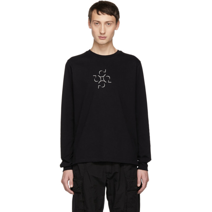 Image of Cottweiler SSENSE Exclusive Black Graphic Long Sleeve T-Shirt