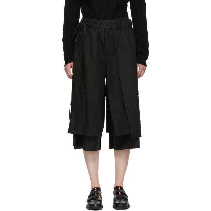Image of Craig Green Black Layered Track Trousers
