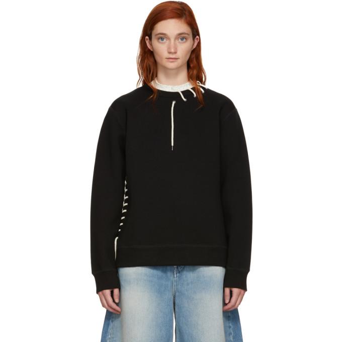 Image of Craig Green Black Laced Sweatshirt