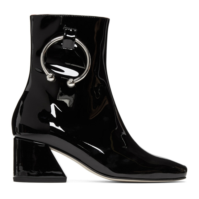 Image of Dorateymur Black Patent Nizip Boots
