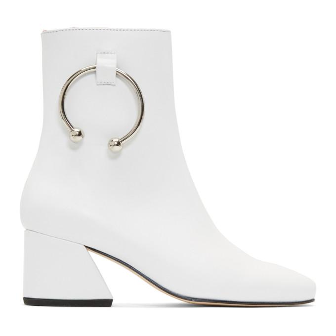 Dorateymur White Nappa Nizip Boots