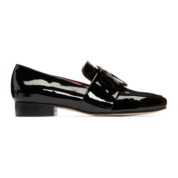 Image of Dorateymur Black Patent Harput Loafers