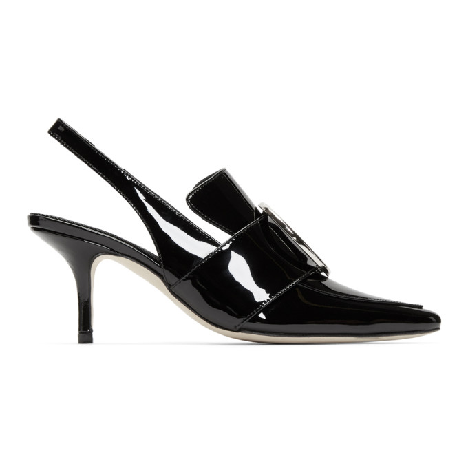 Dorateymur Black Patent Eagle Heels