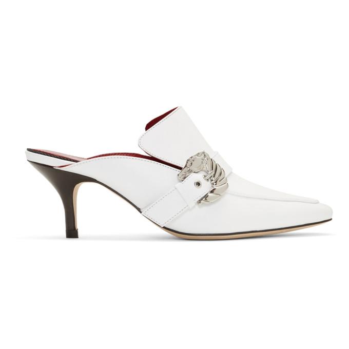 Dorateymur White Cabriolet Heel Mules