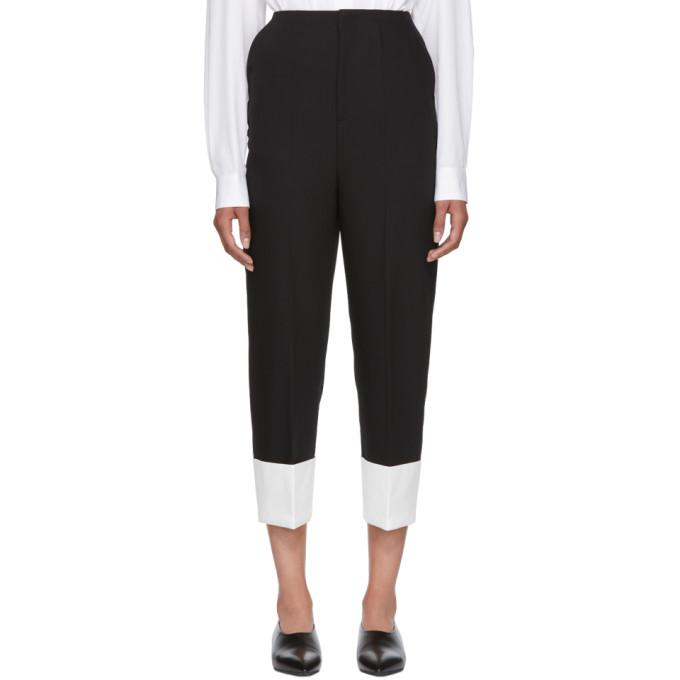 Enfold Black & White Cuff Trousers