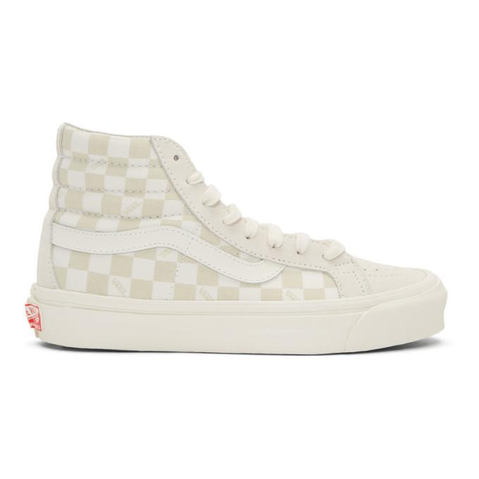 Vans Beige & Off-White OG Sk8-Hi LX Sneakers