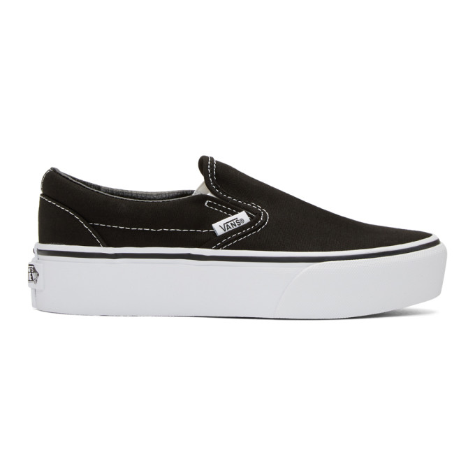 Vans Black Classic Platform Slip-On Sneakers