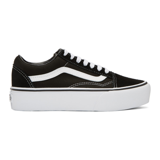 Vans Black & White Old Skool Platform Sneakers
