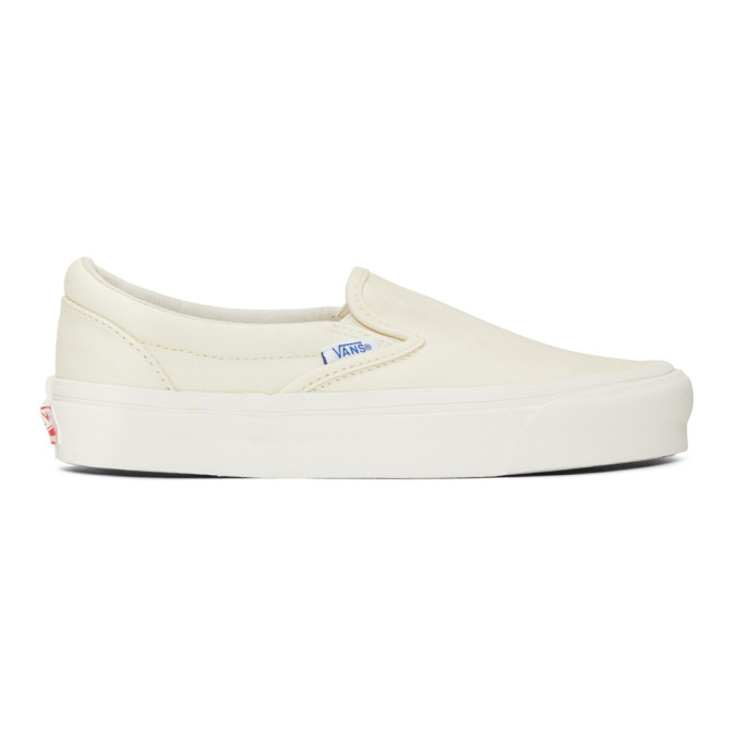Vans White OG Classic Slip-On Sneakers