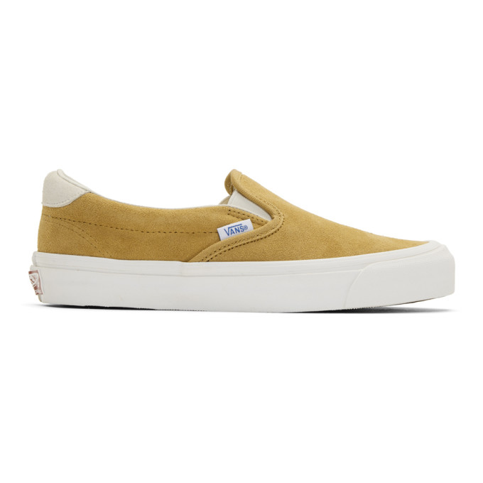 Vans Yellow Suede OG 59 LX Slip-On Sneakers