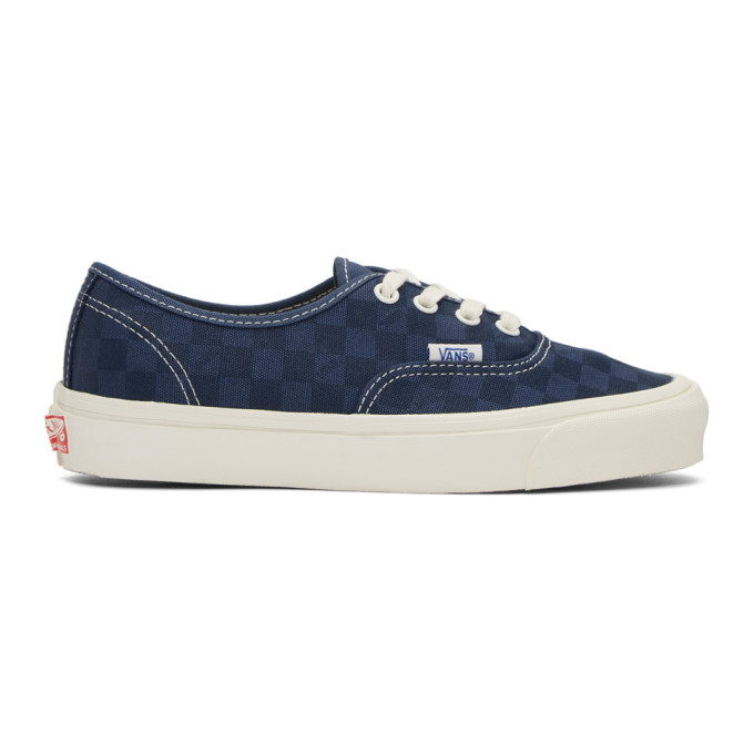Vans Navy Checkerboard OG Authentic LX Sneakers
