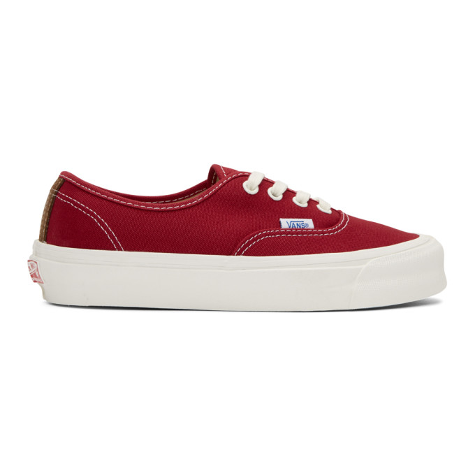 Vans Red OG Authentic LX Sneakers