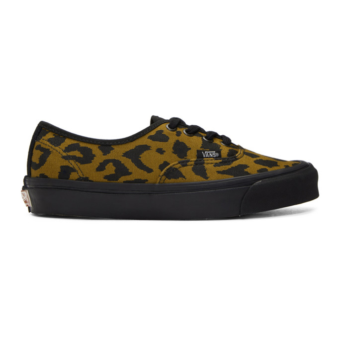 Vans Black & Brown Leopard OG Authentic LX Sneakers