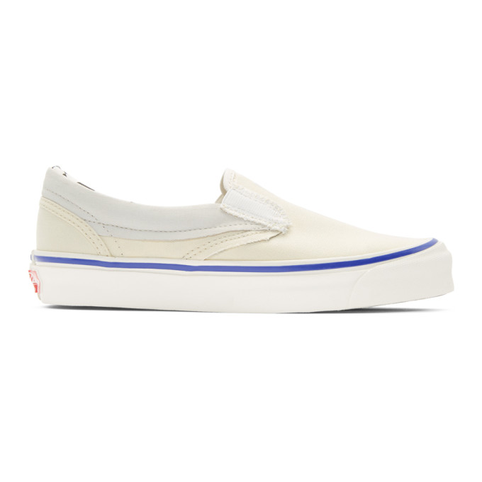 Vans White Inside/Out OG Classic Slip-On Sneakers
