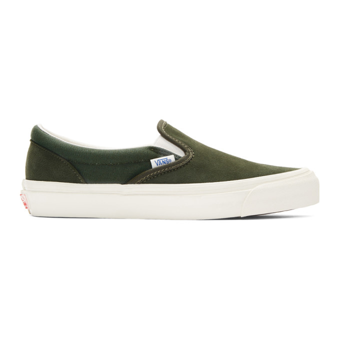 Vans Green OG Classic Slip-On Sneakers