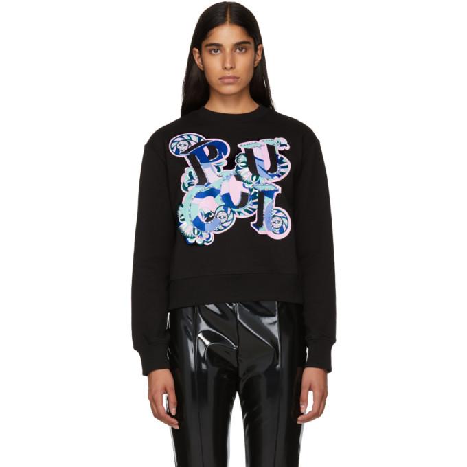 Image of Emilio Pucci Black Pucci Sweatshirt