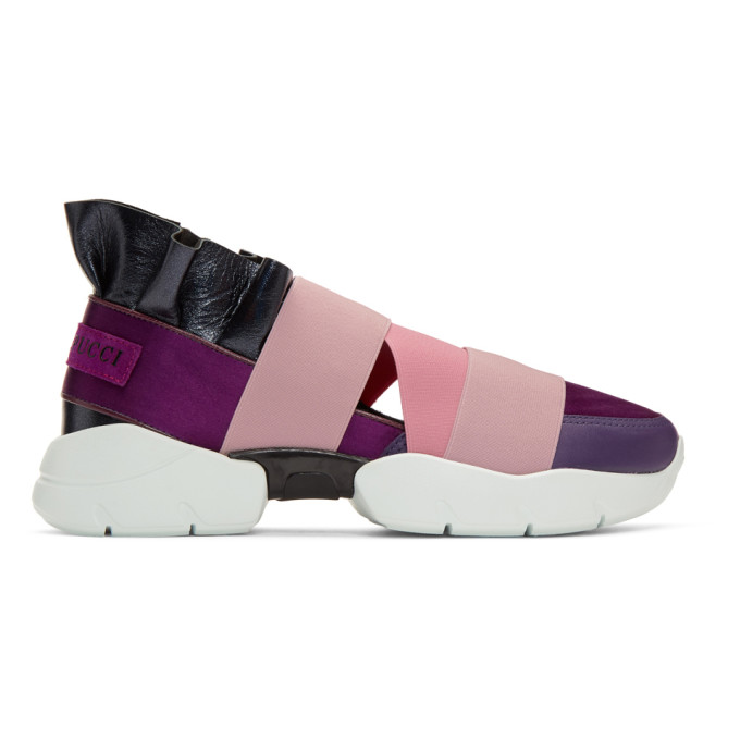 Emilio Pucci Pink & Purple City Up Sneakers