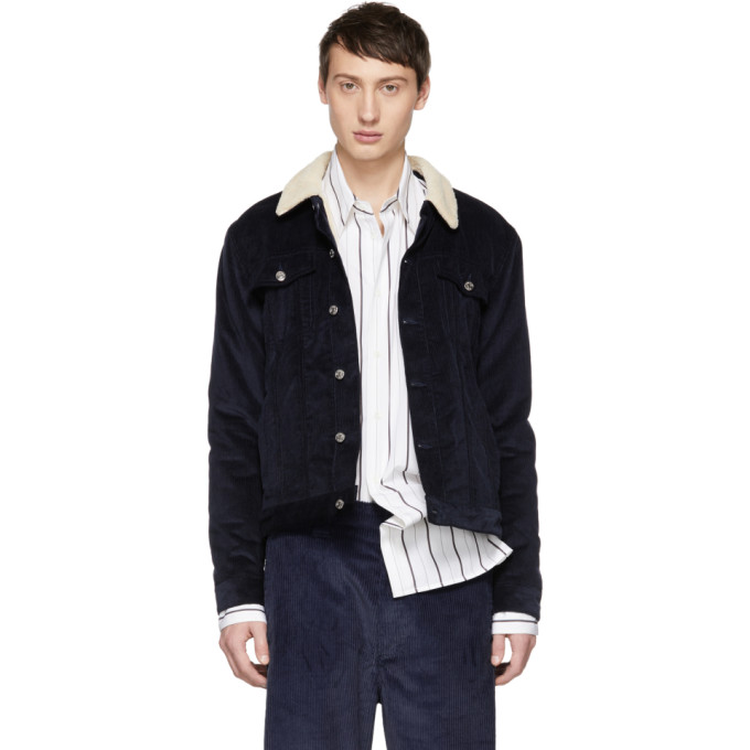 ÉDITIONS M.R Editions M.R Navy Marlon Jacket in Navy Blue