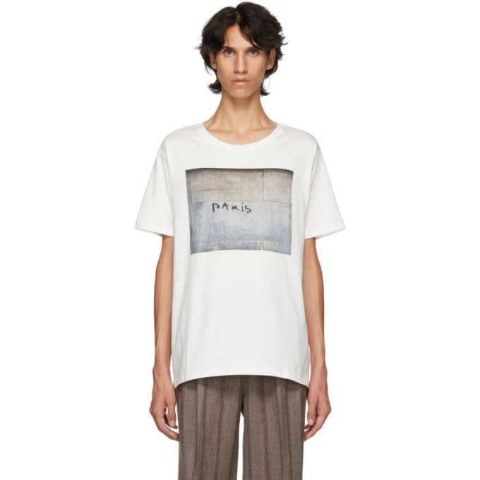ÉDITIONS M.R Editions M.R White Paris Printed Oversized T-Shirt