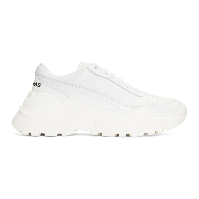 Joshua Sanders White Chunky Sole Sneakers