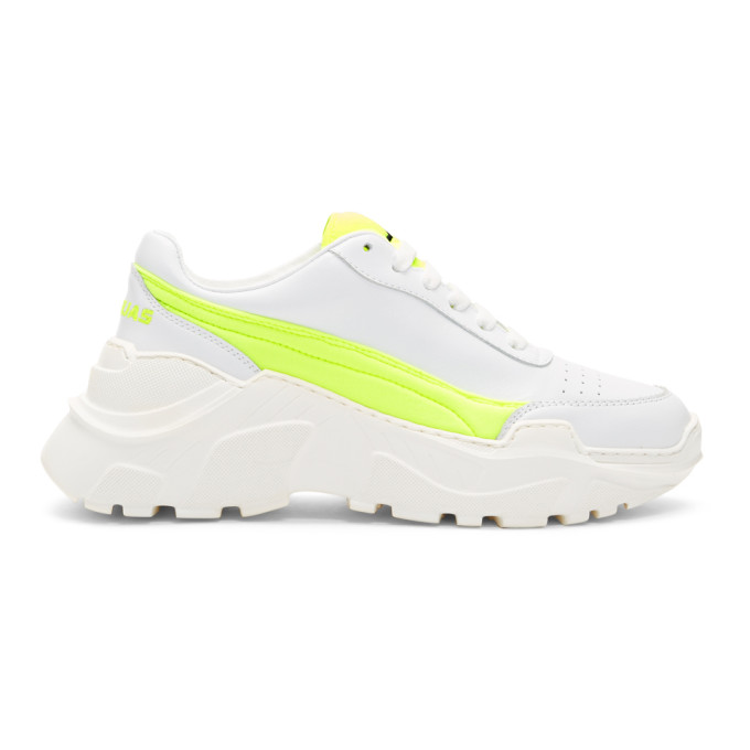 Joshua Sanders SSENSE Exclusive White & Yellow Zenith Sneakers