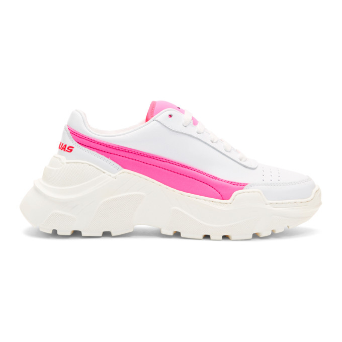 Joshua Sanders SSENSE Exclusive White & Pink Zenith Sneakers