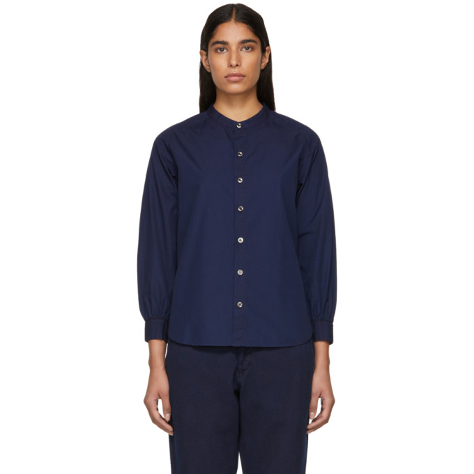 BLUE BLUE JAPAN Blue Blue Japan Indigo Freedom Sleeve Shirt in 50 Indigo