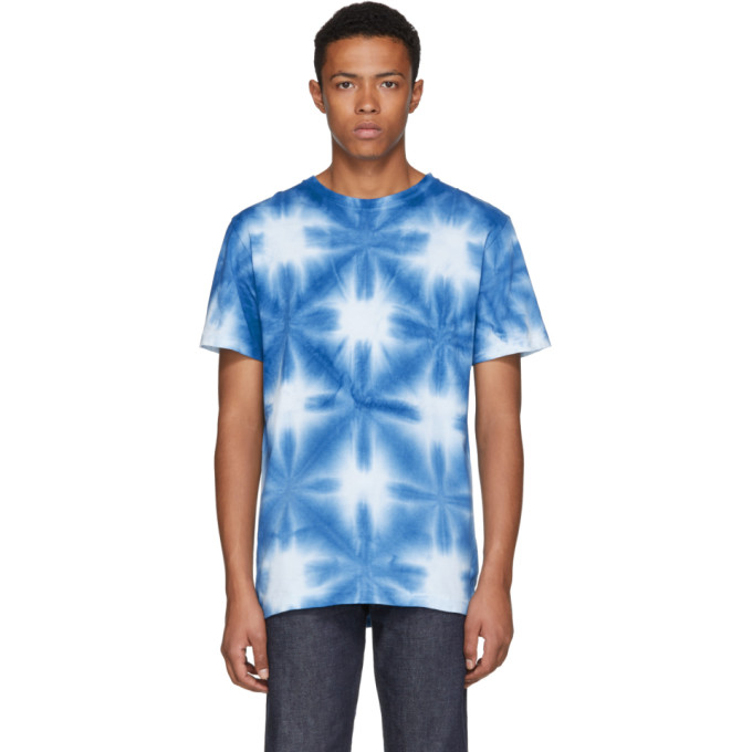 Image of Blue Blue Japan Blue & White Snowflake Tie-Dye T-Shirt