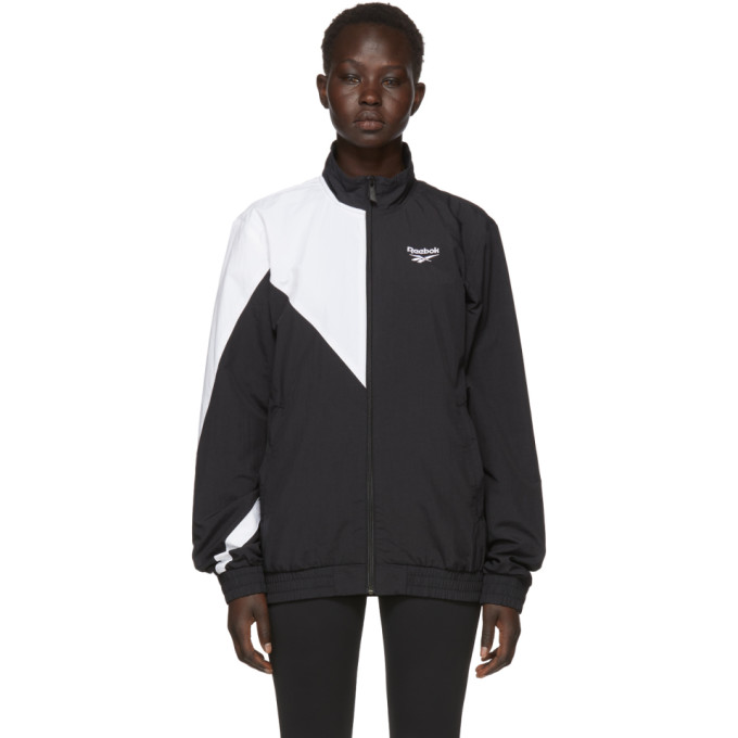 Reebok Classics Black And White Lost And Found Track Jacket ... 4d709cd5a