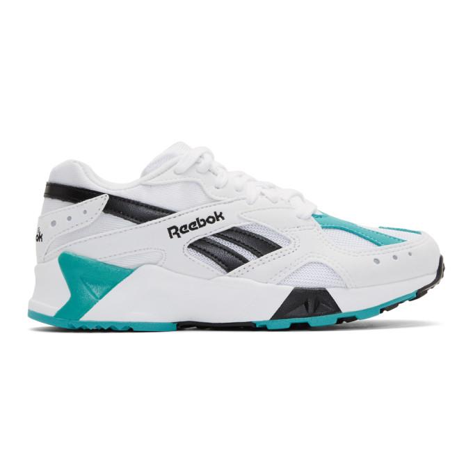 Reebok Classics White & Green Aztrek Sneakers