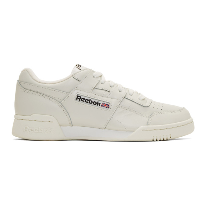 Men'S Workout Plus Leather Lace-Up Sneakers in White
