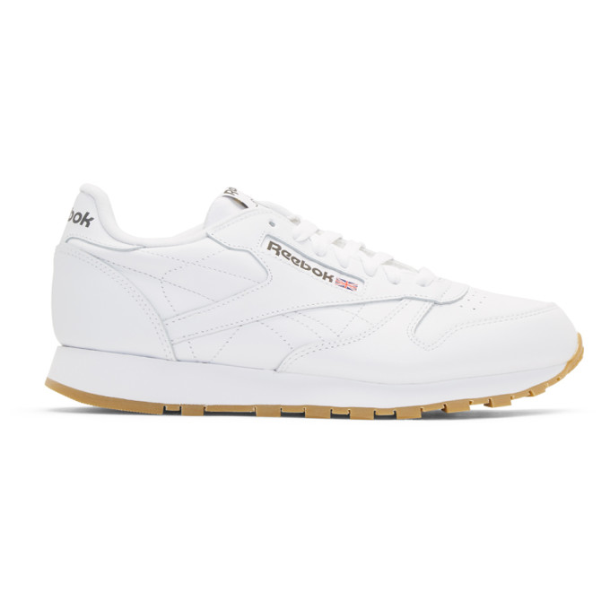 Reebok Classics White CL Leather Sneakers