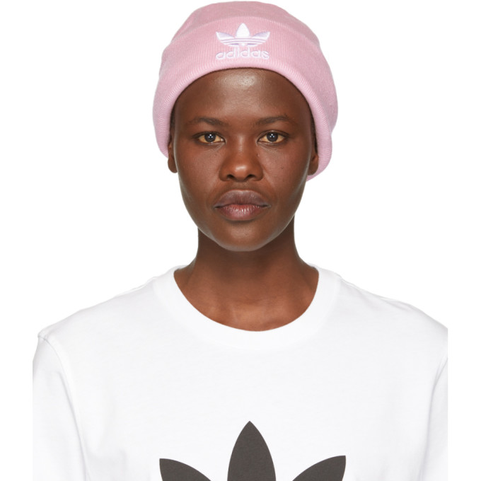 e64abeb7bfb6a adidas Originals Pink Adicolor Beanie