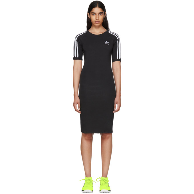 Image of adidas Originals Black 3 Stripes Dress
