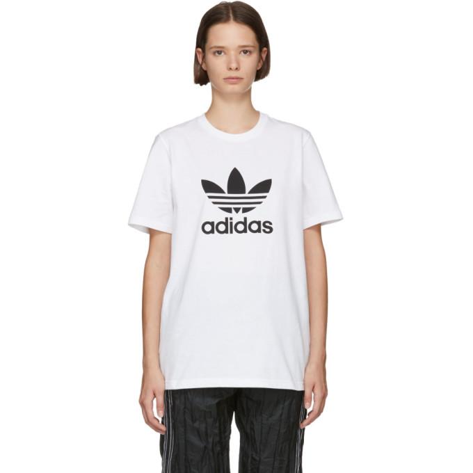 a6a89ff9 adidas Originals White Logo T Shirt