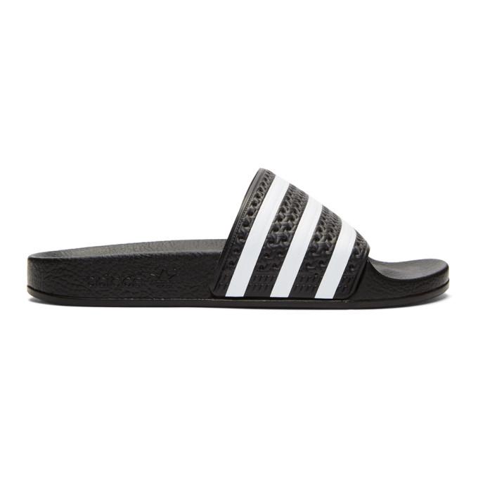 adidas Originals Black Adilette Slides