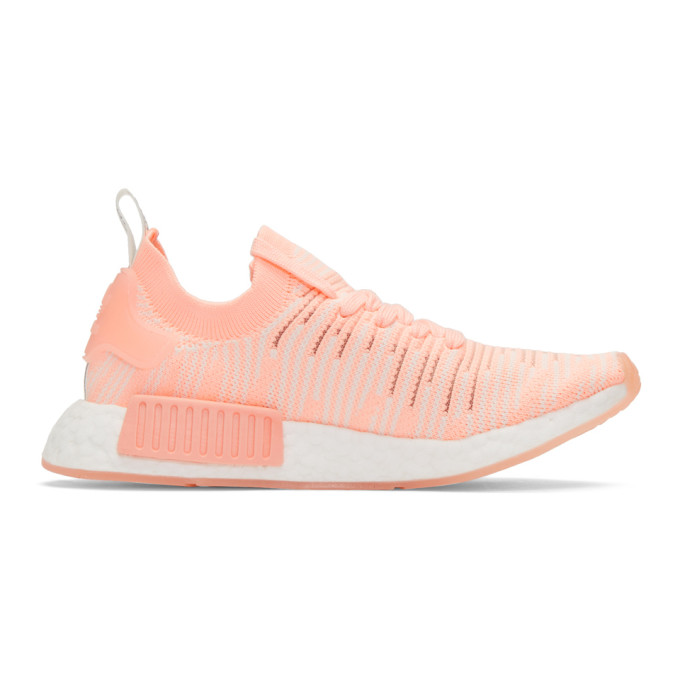 ADIDAS ORIGINALS ORANGE NMD R1 STLT SNEAKERS