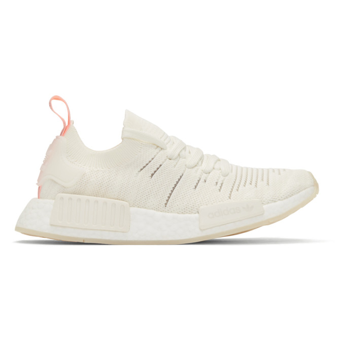 ADIDAS ORIGINALS WHITE NMD R1 STLT SNEAKERS