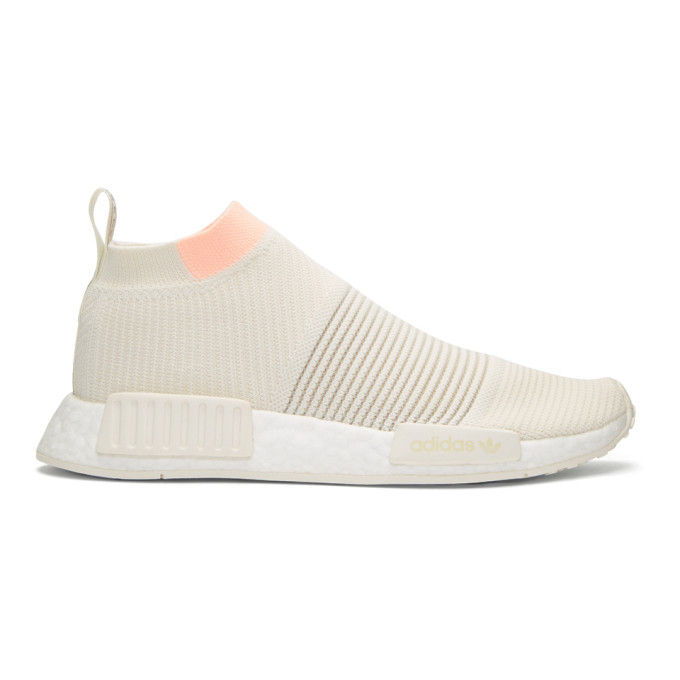 Adidas Adidas Originals Nmd_Cs1 Primeknit Sneakers - White, Cloud White