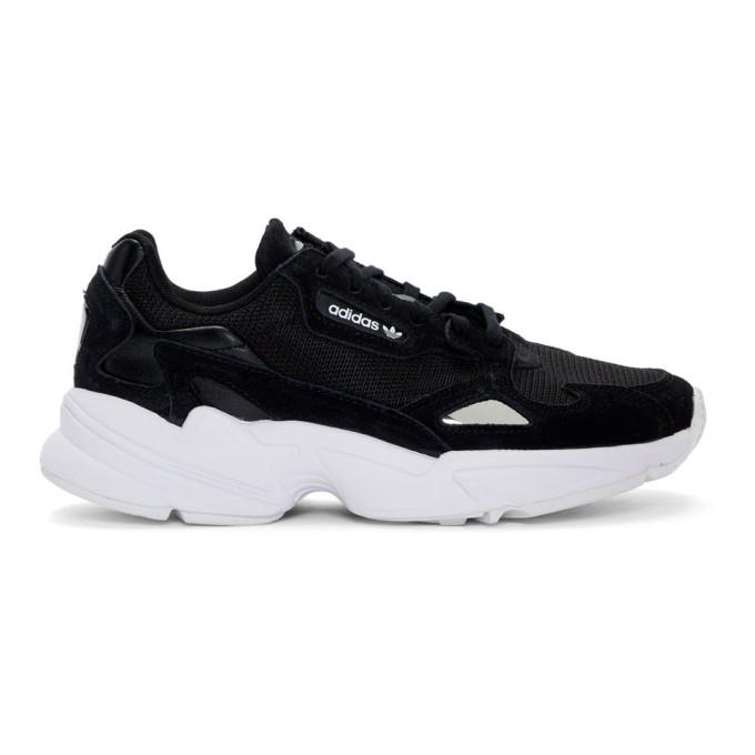 adidas Originals Black & White Falcon 90s Sneakers