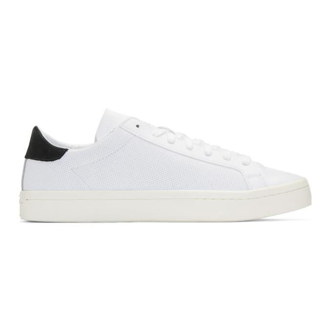 adidas Originals White Courtvantage Sneakers