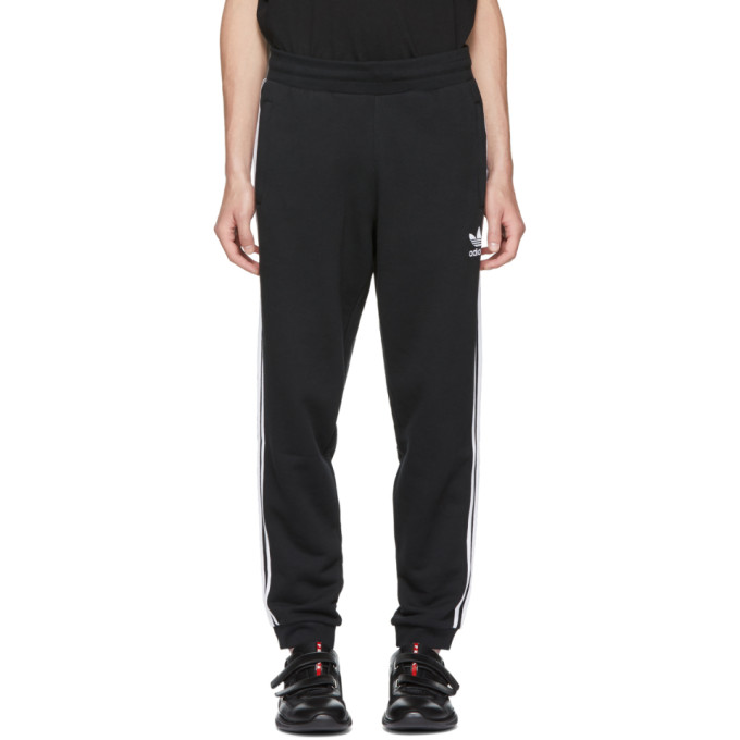 Image of adidas Originals Black 3 Stripe Lounge Pants