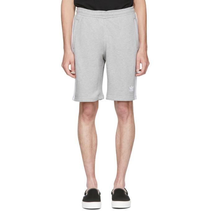 adidas Originals グレー 3 ストライプ ショーツ