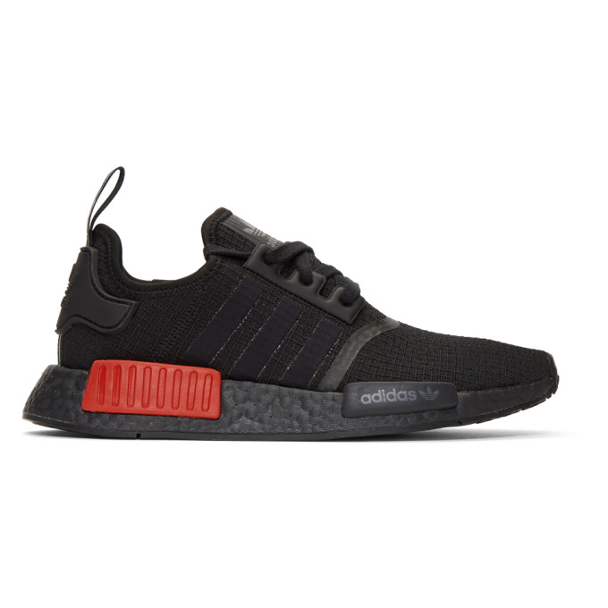 adidas Originals Black & Red NMD_R1 Sneakers