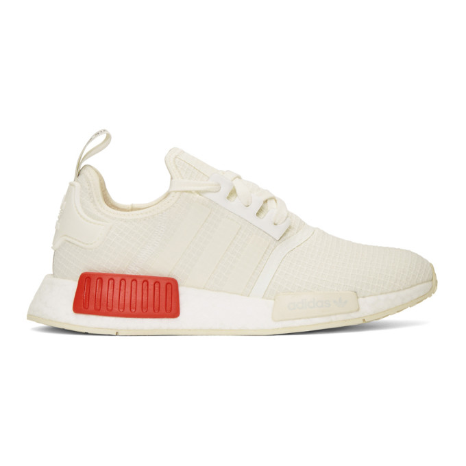 adidas Originals White NMD_R1 Boost Sneakers