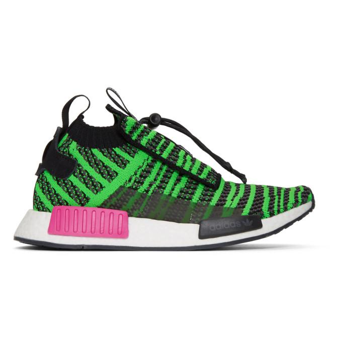 adidas Originals Black & Green NMD_TS1 PK Sneakers